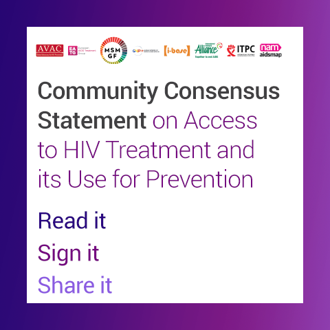 Supporters | Community Consensus Statement on Access to HIV